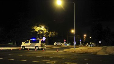 A cyclist died after a crash on the corner of Ainslie Avenue and Doonkuna Street.