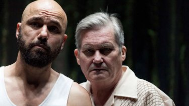Justin Stewart Cotta (left) and Peter Kowitz produce sympathetic and fine-grained performances in The Floating World.