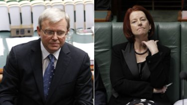 Off with his head ...    the Prime Minister, Kevin Rudd, vowed not to surrender to the wishes of factional leaders who are backing his deputy, Julia Gillard.