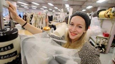Australian Ballet choreographer Alice Topp with the costume for <i>Bodytorque</i>.