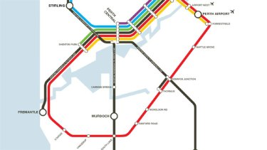 A map of Labor's promised Metronet that includes two new circle routes.