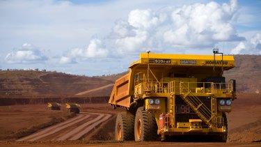 Autonomous Haulage Trucks at the West Angelas mine.