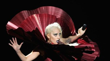 Lady Gaga triumphed over a strong field that included a resurgent Jennifer Lopez, Adele, Katy Perry and Beyonce.