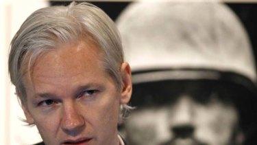 In the dark ... Julian Assange