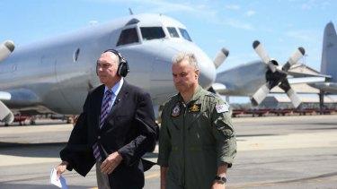 Deputy Prime Minister Warren Truss at RAAF base Pearce.