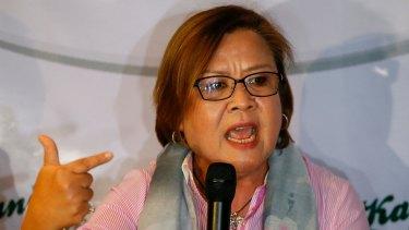 Philippines senator Leila De Lima.