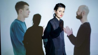 Clapping: Angelica Mesiti with her video artwork The Colour of Saying at Anna Schwartz Gallery.