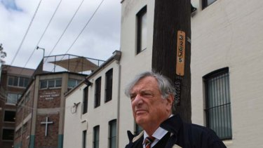 Turning his life around ... former judge Marcus Einfeld on the streets of Woolloomooloo, where he works for charity.