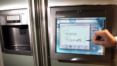 The LG Fridge internet fridge.