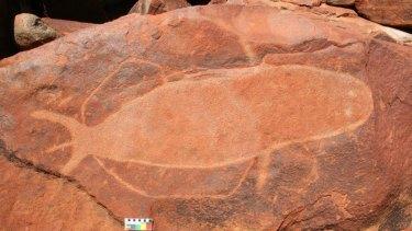 Rock carvings on the Burrup Peninsula, near Karratha.