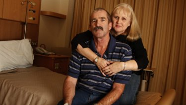 """If they have nothing to hide, then why won't they look into it?"" ... Peter and Narelle McMahon in Royal North Shore Hospital."
