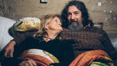 Homeless: Lenny Mitcherson and Leonie Valentine.