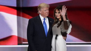 Donald and Melania  Trump at the convention.