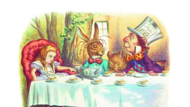 Alice in Wonderland extract with permission from The Complete Alice. Illustrations coloured by Diz Wallis. Copyright Macmillan Publishers Limited 1995
