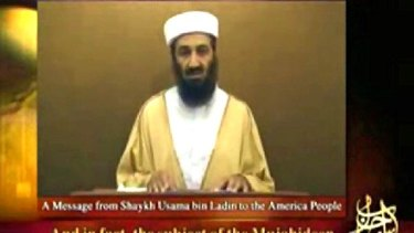 "Osama bin Laden in a speech broadcast last year. He is reportedly planning an attack against the United States that will ""outdo by far"" September 11."
