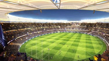 The stadium bowl will bring the atmosphere at Perth Stadium games to another level.
