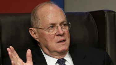 Tough questions: Supreme Court Justice Anthony Kennedy.