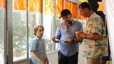 Do it like this: Robert Connolly directs Ed Oxenbould and Peter Rowsthorn on the West Australia set of Paper Planes.