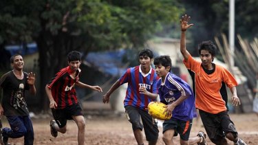 Fun is the key ingredient when young Indian boys play AFL in Mumbai.