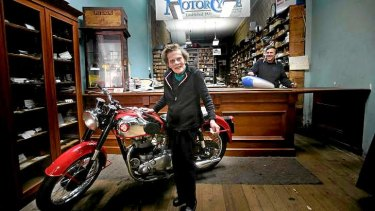 Modak Motorcycles' David Beanham, with mother Jean, lost a tenant and had access severely disrupted while residential towers were built in the CBD's Sutherland Street.