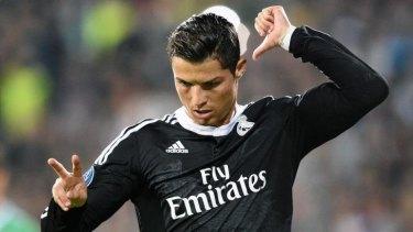 Backs himself: Real Madrid star Christiano Ronaldo.