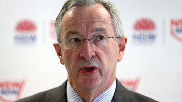 Knocked back: Planning Minister Brad Hazzard under pressure.