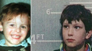 Back in jail ... Jon Venables (right), now 27, was convicted of abducting and murdering toddler James Bulger in 1993.