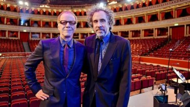 Like family: Danny Elfman and long-time collaborator Tim Burton.
