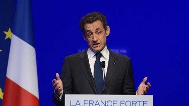 Conceded defeat ... Nicolas Sarkozy.