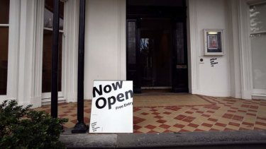 Censorship allegations: The Linden Gallery has reopened, with part of the exhibition sealed off.