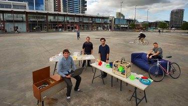 From left: Architects Daniel Yusko and Hannes McNamara and designers Marinos Drake and Ilya Fridman.