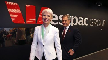 """Former CEO Gail Kelly speaks proudly of  her appointment to Westpac: """"I couldn't wait to start."""" In 2012, she announced the aim of having 50 per cent women in leadership by 2017 - which the bank is now on track to achieve."""