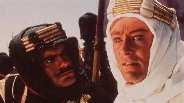 Peter O'Toole and Sharif in 1962's <i>Lawrence of Arabia.</i>