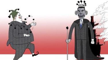 """Convenient truce"", an illustration by Simon Letch."