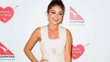 Sarah Hyland left the Qantas function early because of the alleged assault.
