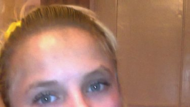 A mobile phone photo of Oksana Makar taken before the attack and handed to media by her mother, Tetyana Surovitska.