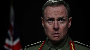 Steely stare: Chief of Army, Lieutenant General David Morrison.