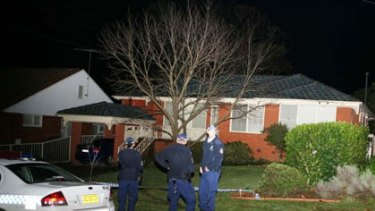 Crime scene ... the Baulkham Hills house where Monica Speering had lived for more than 30 years.