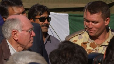 John Howard and Andrew Bird in Afghanistan in 2005.