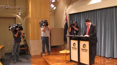 'I think it's time for me to move on': Deputy Premier Paul Lucas announces his retirement in Brisbane today.