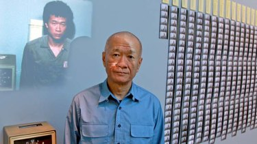 Clocking on and on and on: Tehching Hsieh with his installation work One Year Performance.
