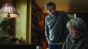 Melancholy aspect: Mathias (Kevin Kline) and Mathilde (Maggie Smith) in <i>My Old Lady</i>.