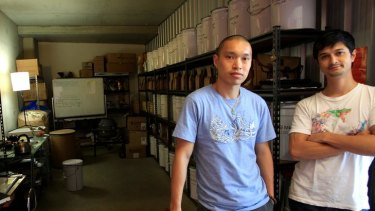 Out of the bag ... Tea Craft's Tjok Gde Kerthyasa and Arthur Tong buy direct from the source.