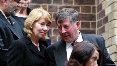 Former ALP national secretary Bob Hogg, pictured with wife and former Labor MP Maxine McKew.