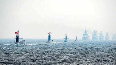 Some of China's naval might on display.