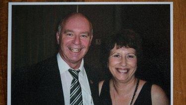 Lynda and Mark Thompson in 2013.