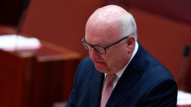 Attorney-General George Brandis during the speech in the Senate.