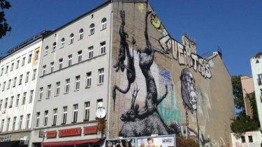 Another postcard from Berlin's street art tour: art for artists.