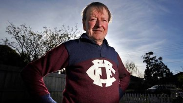 Lion heart: the footballer's footballer, Bruce McMaster-Smith, proudly wears his Fitzroy jumper.
