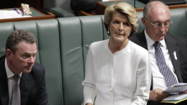 Deputy Opposition Leader Julie Bishop questions Prime Minister Julia Gillard.